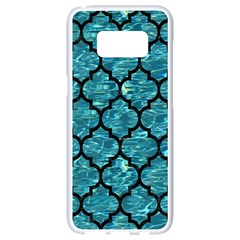 Tile1 Black Marble & Blue Green Water (r) Samsung Galaxy S8 White Seamless Case