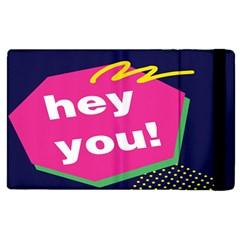 Behance Feelings Beauty Hey You Leaf Polka Dots Pink Blue Apple Ipad Pro 9 7   Flip Case