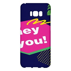 Behance Feelings Beauty Hey You Leaf Polka Dots Pink Blue Samsung Galaxy S8 Plus Hardshell Case