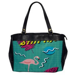 Behance Feelings Beauty Flamingo Bird Still Life Leaf Green Pink Red Office Handbags