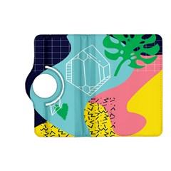 Behance Feelings Beauty Waves Blue Yellow Pink Green Leaf Kindle Fire Hd (2013) Flip 360 Case