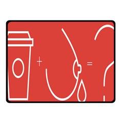 Caffeine And Breastfeeding Coffee Nursing Red Sign Fleece Blanket (small)