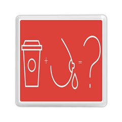 Caffeine And Breastfeeding Coffee Nursing Red Sign Memory Card Reader (square)
