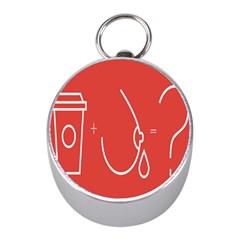 Caffeine And Breastfeeding Coffee Nursing Red Sign Mini Silver Compasses