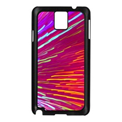 Zoom Colour Motion Blurred Zoom Background With Ray Of Light Hurtling Towards The Viewer Samsung Galaxy Note 3 N9005 Case (black)