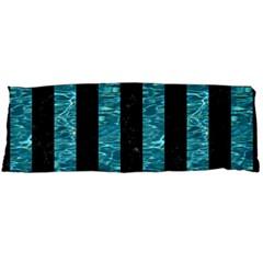 Stripes1 Black Marble & Blue Green Water Body Pillow Case Dakimakura (two Sides)