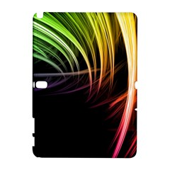 Colorful Abstract Fantasy Modern Green Gold Purple Light Black Line Galaxy Note 1