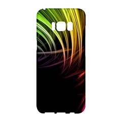 Colorful Abstract Fantasy Modern Green Gold Purple Light Black Line Samsung Galaxy S8 Hardshell Case
