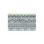 Black White Decorative Ornaments Cosmetic Bag (XS) Front