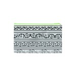 Black White Decorative Ornaments Cosmetic Bag (XS) Back