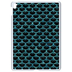 Scales3 Black Marble & Blue Green Water Apple Ipad Pro 9 7   White Seamless Case