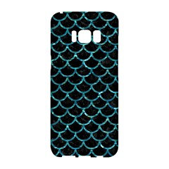 Scales1 Black Marble & Blue Green Water Samsung Galaxy S8 Hardshell Case