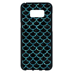 Scales1 Black Marble & Blue Green Water Samsung Galaxy S8 Plus Black Seamless Case