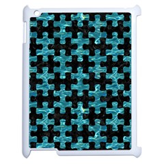 Puzzle1 Black Marble & Blue Green Water Apple Ipad 2 Case (white)