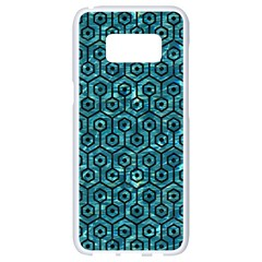 Hexagon1 Black Marble & Blue Green Water (r) Samsung Galaxy S8 White Seamless Case