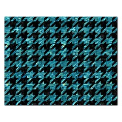 Houndstooth1 Black Marble & Blue Green Water Jigsaw Puzzle (rectangular)