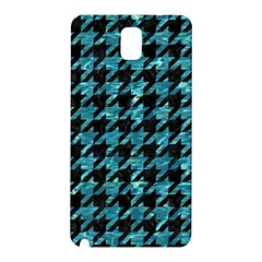 Houndstooth1 Black Marble & Blue Green Water Samsung Galaxy Note 3 N9005 Hardshell Back Case
