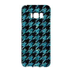 Houndstooth1 Black Marble & Blue Green Water Samsung Galaxy S8 Hardshell Case