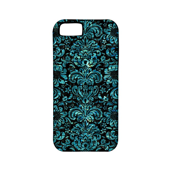 DAMASK2 BLACK MARBLE & BLUE-GREEN WATER Apple iPhone 5 Classic Hardshell Case (PC+Silicone)
