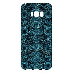 Damask2 Black Marble & Blue Green Water Samsung Galaxy S8 Plus Hardshell Case