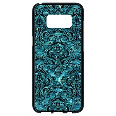 Damask1 Black Marble & Blue Green Water (r) Samsung Galaxy S8 Black Seamless Case
