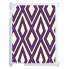 Diamond Key Stripe Purple Chevron Apple Ipad 2 Case (white)