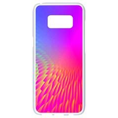 Light Aurora Pink Purple Gold Samsung Galaxy S8 White Seamless Case