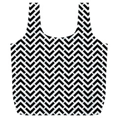 Funky Chevron Stripes Triangles Full Print Recycle Bags (l)