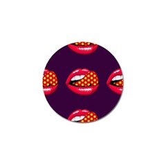 Lip Vector Hipster Example Image Star Sexy Purple Red Golf Ball Marker (4 Pack)