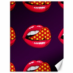 Lip Vector Hipster Example Image Star Sexy Purple Red Canvas 36  X 48