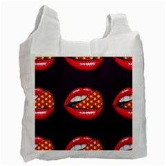Lip Vector Hipster Example Image Star Sexy Purple Red Recycle Bag (two Side)
