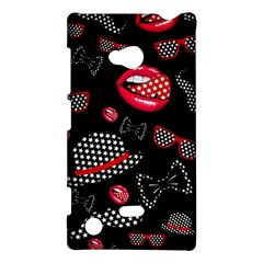 Lip Hat Vector Hipster Example Image Star Sexy Black Red Nokia Lumia 720