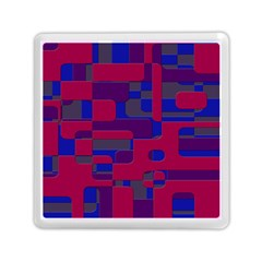 Offset Puzzle Rounded Graphic Squares In A Red And Blue Colour Set Memory Card Reader (square)