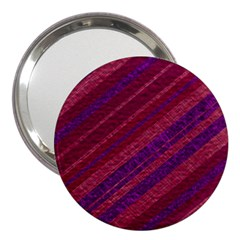 Maroon Striped Texture 3  Handbag Mirrors