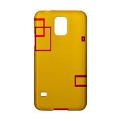 Overlap Squares Orange Plaid Red Samsung Galaxy S5 Hardshell Case