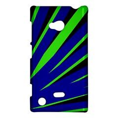 Rays Light Chevron Blue Green Black Nokia Lumia 720