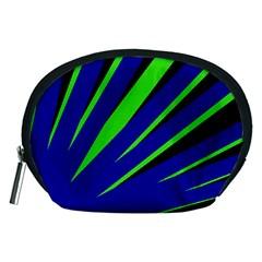 Rays Light Chevron Blue Green Black Accessory Pouches (medium)