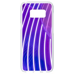 Rays Light Chevron Blue Purple Line Light Samsung Galaxy S8 White Seamless Case