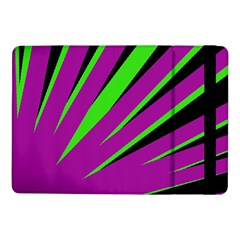 Rays Light Chevron Purple Green Black Samsung Galaxy Tab Pro 10 1  Flip Case