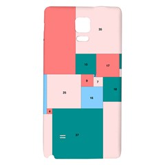 Simple Perfect Squares Squares Order Galaxy Note 4 Back Case