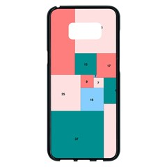 Simple Perfect Squares Squares Order Samsung Galaxy S8 Plus Black Seamless Case