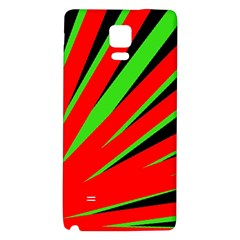 Rays Light Chevron Red Green Black Galaxy Note 4 Back Case