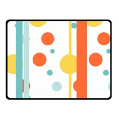 Stripes Dots Line Circle Vertical Yellow Red Blue Polka Fleece Blanket (small)