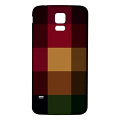 Stripes Plaid Color Samsung Galaxy S5 Back Case (white)