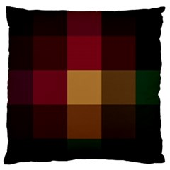 Stripes Plaid Color Standard Flano Cushion Case (two Sides)