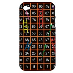 Snakes Ladders Game Plaid Number Apple Iphone 4/4s Hardshell Case (pc+silicone)