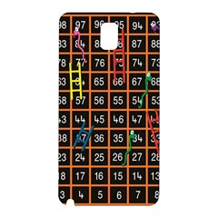 Snakes Ladders Game Plaid Number Samsung Galaxy Note 3 N9005 Hardshell Back Case