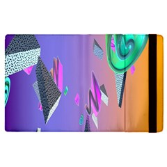 Triangle Wave Rainbow Apple Ipad Pro 12 9   Flip Case