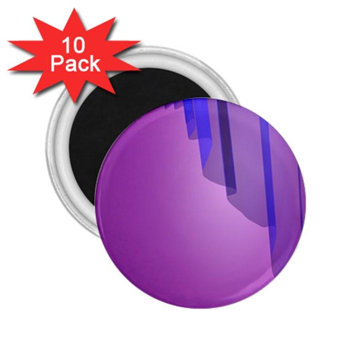 Verre Bleu Wave Chevron Waves Purple 2.25  Magnets (10 pack)