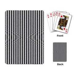 Vertical Lines Waves Wave Chevron Small Black Playing Card